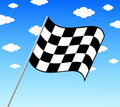 Finish flags Royalty Free Stock Photo