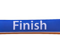 Finish line banner isolated colorfull Stock Image