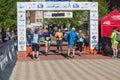 Finish Line - Blue Ridge Marathon – Roanoke, Virginia, USA Royalty Free Stock Photo