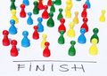 Finish line reaching the and winning Royalty Free Stock Images