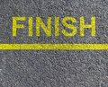 Finish race Royalty Free Stock Image