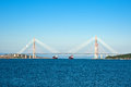 Almost finished bridge to russian island the longest cable stayed bridge in the world Stock Image
