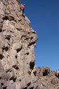 Finishing a climb Royalty Free Stock Photo