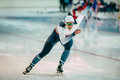 Finishing spurt male skater chelyabinsk russia october during cup of russia on skating sports Stock Photography