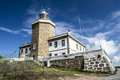 Finisterre lighthouse in a coruña spain Royalty Free Stock Photography