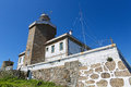 Finisterre lighthouse at the end of the world at cape in galicia spain Royalty Free Stock Photography