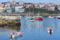 Finisterre port of corunna spain Stock Photos