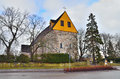 Finland church of sts lawrence western mynamaki st in a cloudy winter day Stock Image