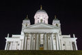 image photo : Finland Helsinki Cathedral lit up in the night,