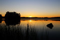 Finland: Sunset by a lake Royalty Free Stock Photo