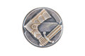 The finnish civic guards suojeluskunta badge of silver metal in s s of th century times of russian war and Royalty Free Stock Images