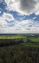 Finnish countryside landscape Royalty Free Stock Photo