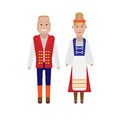 Finnish national costume illustration of dress on white background Royalty Free Stock Photo