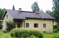 Finnish private house wooden in finland Royalty Free Stock Photography