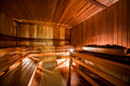 Finnish sauna inside of modern Royalty Free Stock Images