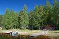 Finnish summer cottage Royalty Free Stock Photo