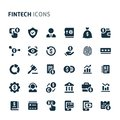 Fintech Vector Icon Set. Fillio Black Icon Series Royalty Free Stock Photo