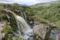 Fintry Loup Waterfall Stock Photo