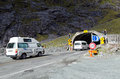 Fiordland homer tunnel nz jan campers enters on jan it s a km miles road and until it was sealed and enlarged it was the Royalty Free Stock Photo