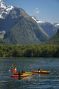 Fiordland Kayaking Royalty Free Stock Images