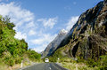 Fiordland new zealand campervan trip in Stock Images