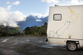 Fiordland new zealand campervan trip in Stock Image