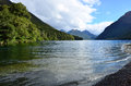 Fiordland new zealand lake gunn in Royalty Free Stock Photo