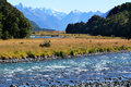 Fiordland new zealand landscape of eglinton river in Stock Photos