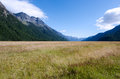 Fiordland new zealand landscape of mountains with snow in Royalty Free Stock Photography