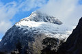 Fiordland new zealand landscape of mountains with snow in Stock Photos