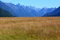 Fiordland new zealand landscape of mountains with snow in Stock Photography
