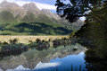 Fiordland new zealand the mirror lake in Royalty Free Stock Photo