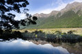 Fiordland new zealand the mirror lake in Stock Photos