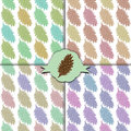 The fir cone pattern. Set of four colorful patterns. Royalty Free Stock Photo