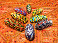 Fir cones painted Royalty Free Stock Photography