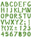 Fir tree alphabet Stock Photos