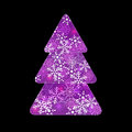 Fir tree background abstract new year purple Royalty Free Stock Photography