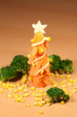 Fir-tree of a carrot and broccoli Royalty Free Stock Photos