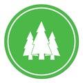 Fir Trees flat icon Royalty Free Stock Photo