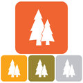 Fir Trees icon set Royalty Free Stock Photo