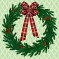 Fir wreath Stock Image