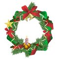 Fir wreath, cdr vector Stock Photography