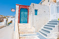 Fira architecture on the island of Thera (Santorini) in Greece. Royalty Free Stock Photo
