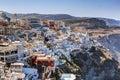 Fira the capital of santorini island greece traditional architecture on cliff over aegean sea Stock Photos