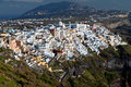 Fira city at Santorini island, Greece Stock Photos