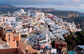 Fira city at Santorini island in Greece Stock Photos