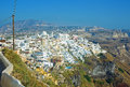 Fira panorama 2 at Santorini, Greece Royalty Free Stock Images