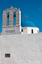 Fira santorini a church in greece Royalty Free Stock Photography
