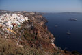 Fira santorini greece general view of town island Royalty Free Stock Images
