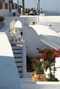 Fira santorini greece a narrow street in town island Stock Photo